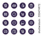 shopping web icons | Shutterstock .eps vector #553474972
