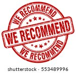 we recommend. stamp. red round... | Shutterstock .eps vector #553489996