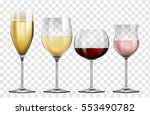 four different kinds of wine... | Shutterstock .eps vector #553490782