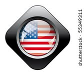 usa america shiny button flag... | Shutterstock .eps vector #55349311