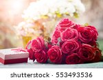 Red Roses Flowers With...