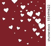 cutout paper hearts. random... | Shutterstock .eps vector #553494622