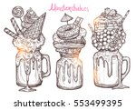 monstershakes in graphic sketch ...   Shutterstock .eps vector #553499395