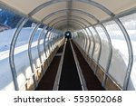 travelator to lift skiers at... | Shutterstock . vector #553502068