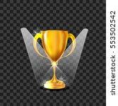 vector realistic trophy award...