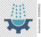 water shower service gear icon. ... | Shutterstock .eps vector #553509022