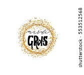calligraphic badge. hand... | Shutterstock .eps vector #553512568