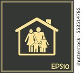 family in home icon | Shutterstock .eps vector #553514782