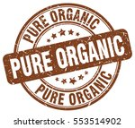 pure organic. stamp. brown... | Shutterstock .eps vector #553514902