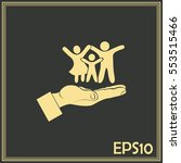 family life insurance sign icon.... | Shutterstock .eps vector #553515466