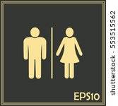 vector male and female sign | Shutterstock .eps vector #553515562