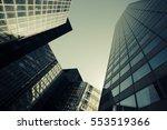 skyscrapers with glass facade.... | Shutterstock . vector #553519366