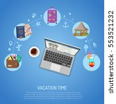vacation concept and tourism... | Shutterstock .eps vector #553521232