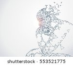 lines connected to thinkers ... | Shutterstock .eps vector #553521775