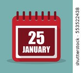 calendar with 25 january in a...