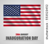 inauguration day with usa... | Shutterstock .eps vector #553523452