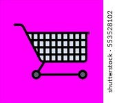 shoping cart icon fat design