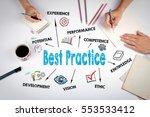 best practice. the meeting at... | Shutterstock . vector #553533412