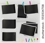 photo frame  vector set | Shutterstock .eps vector #553534708