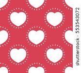 seamless pattern with heart.... | Shutterstock .eps vector #553543072