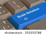 keyboard with key for scale... | Shutterstock . vector #553553788