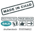 made in chad rubber seal stamp... | Shutterstock .eps vector #553556812