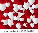 vector background with hearts ...   Shutterstock .eps vector #553556902