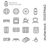 gas stove kitchen vector icon... | Shutterstock .eps vector #553559662