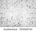 white brick wall. horizontal... | Shutterstock . vector #553560742