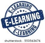 e learning. stamp. blue round... | Shutterstock .eps vector #553563676