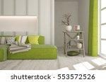 White Room With Green Sofa....