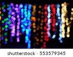 bokeh pentagon shape lights ... | Shutterstock . vector #553579345