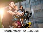 portrait of sportsmens at gym | Shutterstock . vector #553602058