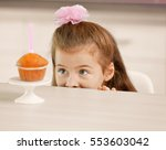 Cute Little Girl With Birthday...