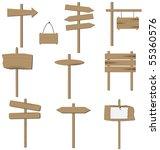 vector set of various wooden... | Shutterstock .eps vector #55360576