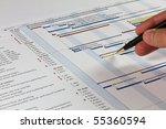 detailed gantt chart showing... | Shutterstock . vector #55360594