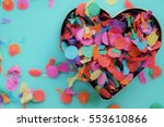 valentine background with heart ... | Shutterstock . vector #553610866