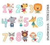 birthday anniversary numbers... | Shutterstock .eps vector #553611466