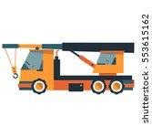 the crane truck. construction... | Shutterstock .eps vector #553615162