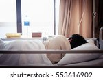 patient sleeping in hospital... | Shutterstock . vector #553616902