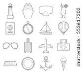 set of modern travel symbols... | Shutterstock .eps vector #553617202