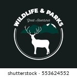 wildlife and parks logo with... | Shutterstock .eps vector #553624552