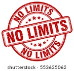 no limits. stamp. red round... | Shutterstock .eps vector #553625062