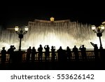 people look at night view of... | Shutterstock . vector #553626142