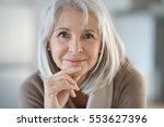 portrait of beautiful senior... | Shutterstock . vector #553627396