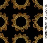 vector seamless pattern with... | Shutterstock .eps vector #553629046