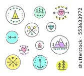 set of icons. camping  tribal ... | Shutterstock .eps vector #553633972
