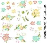 summer flowers   Shutterstock .eps vector #553638835