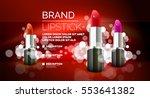 vector realistic lipstick... | Shutterstock .eps vector #553641382