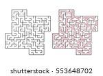vector labyrinth 51. maze  ... | Shutterstock .eps vector #553648702